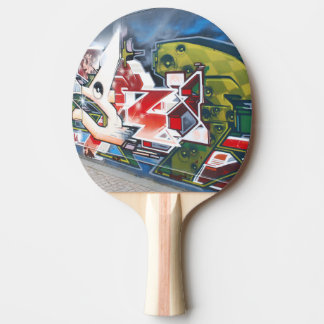 Copenhagen Street Graffiti Art Ping-Pong Paddle
