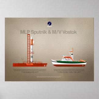 Copenhagen Suborbitals fleet: Sputnik & Vostok Poster