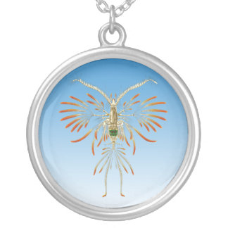 Copepod Silver Plated Necklace