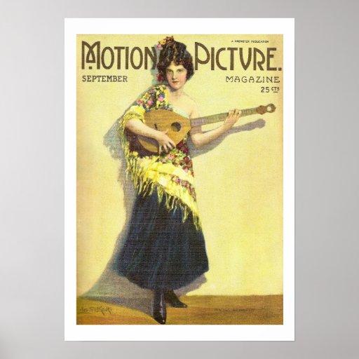 Copie 1920 de magazine de film de cru de Madge Ken Poster