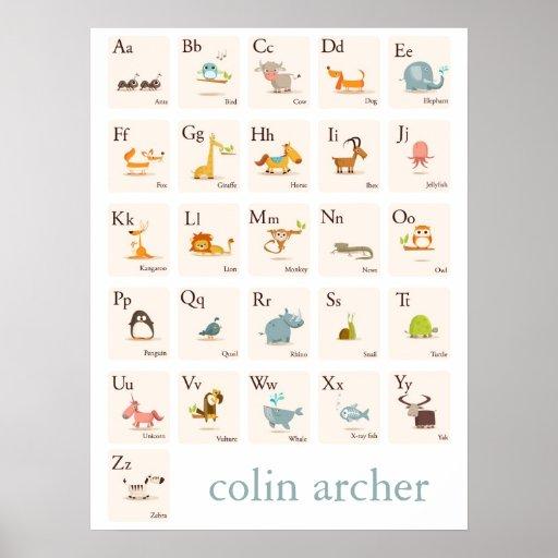 Copie animale de crèche d'ABC Posters
