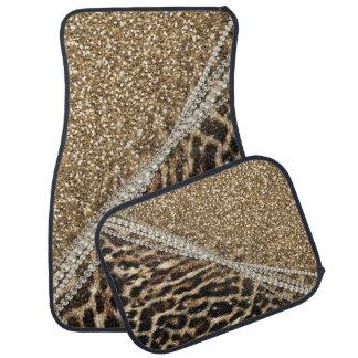 Copie animale de fourrure de faux de beau léopard tapis de sol