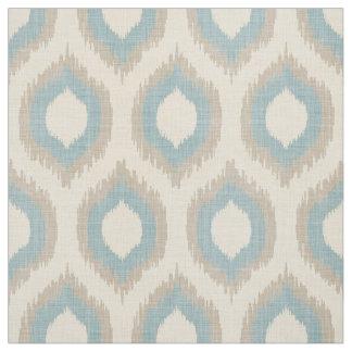 Copie beige et bleue de toile rustique d'Ikat Tissu