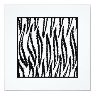 Copie blanche de tigre. Modèle de tigre Carton D'invitation 13,33 Cm