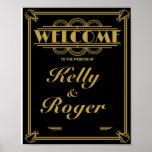 Copie d'accueil de mariage de style de Gatsby des Poster