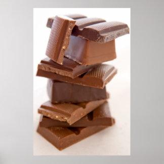 Copie d'affiche de barre de bonbons au chocolat poster
