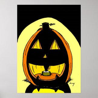 Copie d'affiche de lanterne de Jack O - illustrati Poster