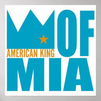 Copie d'affiche de MIMS - roi américain de MIA