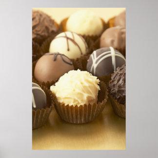 Copie d'affiche de truffes de chocolat poster