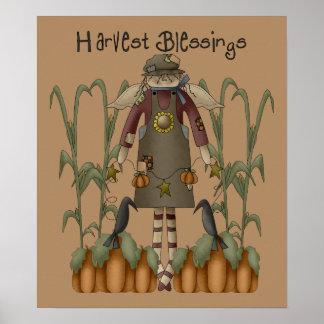 Copie de bénédictions de récolte poster