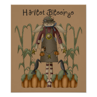 Copie de bénédictions de récolte posters