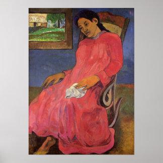 """Copie de """"Faaturuma (mélancolie)"""" - Paul Gauguin Affiche"""