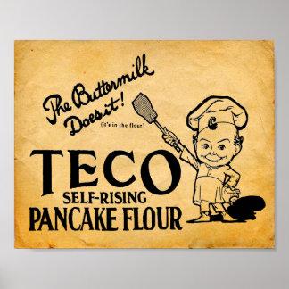 Copie de la publicité de farine de crêpe de Teco Affiches