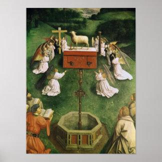 Copie de l'adoration de l'agneau mystique poster