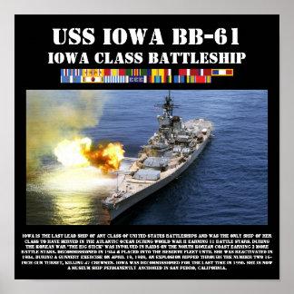 Copie de l'USS Iowa BB-61 de cuirassé Poster