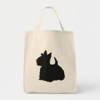 Copie de noir de chien de Scotty sur le sac