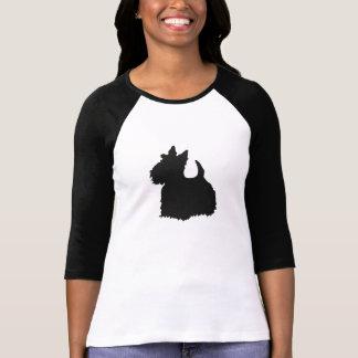 Copie de noir de chien de Scotty Tee Shirt
