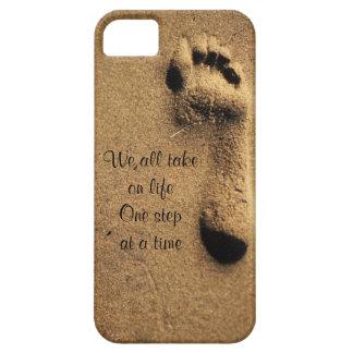 Copie de pied dans la 4ème admission de lac sand, étui iPhone 5