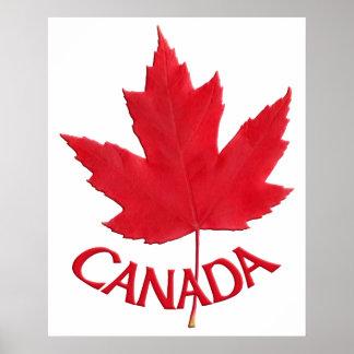 Copie de souvenir de feuille d'érable du Canada d' Posters