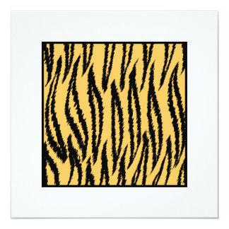 Copie de tigre. Modèle orange et noir Carton D'invitation 13,33 Cm