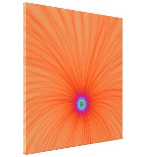 Copie de toile d explosion de couleur de mandarine toiles tendues sur châssis