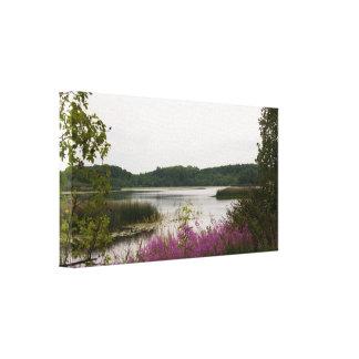 Copie de toile de lac landscape toile tendue