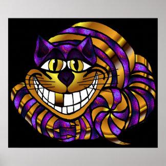 Copie d'or de chat de Cheshire Poster