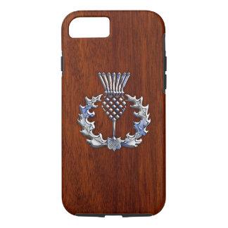 Copie écossaise en bois d'acajou riche de chardon coque iPhone 7