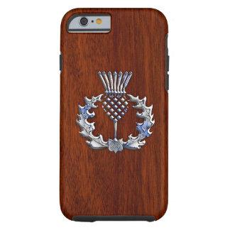 Copie écossaise en bois d'acajou riche de chardon coque tough iPhone 6