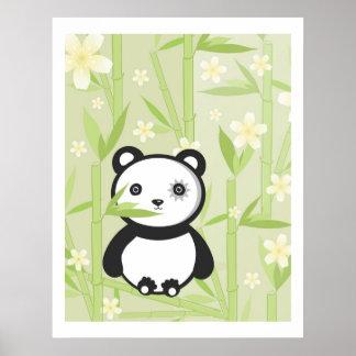 Copie en bambou de jardin de panda poster