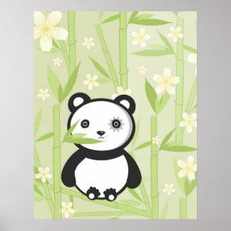 Copie en bambou de toile de panda poster
