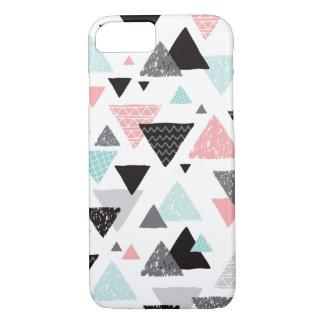 Copie en pastel de triangle tirée par la main coque iPhone 7