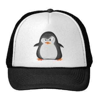 Copie fâchée de photo de scintillement de pingouin casquettes de camionneur