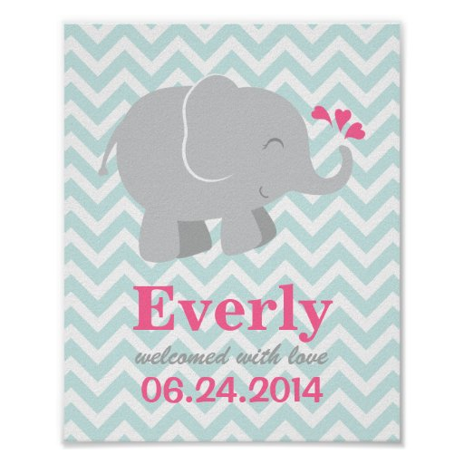 Copie faite sur commande d'art pour le bébé élépha affiches