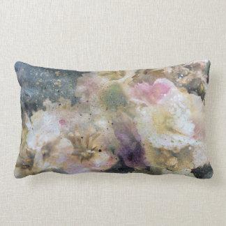Copie florale violette rose de peinture coussin rectangle