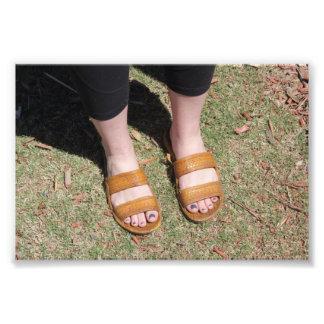 Copie impressionnante de photo de sandales