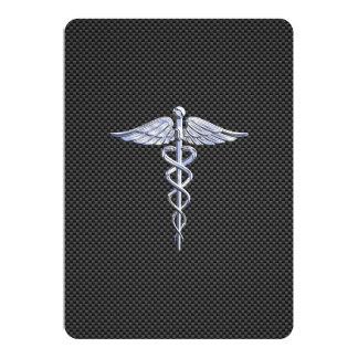 Copie médicale de fibre de carbone de symbole de carton d'invitation  12,7 cm x 17,78 cm