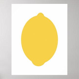 Copie moderne de citron poster