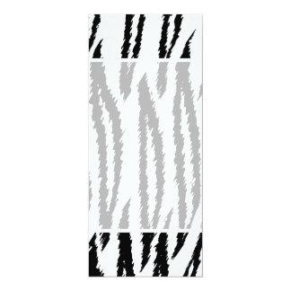 Copie noire et blanche de tigre. Modèle de tigre Carton D'invitation 10,16 Cm X 23,49 Cm