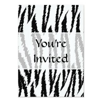 Copie noire et blanche de tigre. Modèle de tigre Carton D'invitation 12,7 Cm X 17,78 Cm
