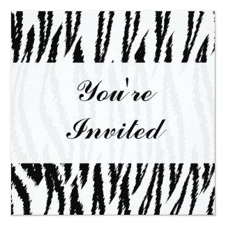 Copie noire et blanche de tigre. Modèle de tigre Cartons D'invitation Personnalisés