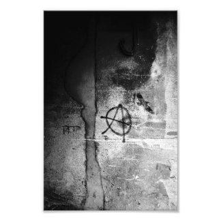 Copie sale de photo d'anarchie de mur de ville