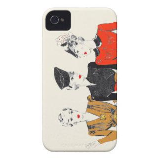 Copie vintage colorée d'art de 3 dames classiques coque Case-Mate iPhone 4