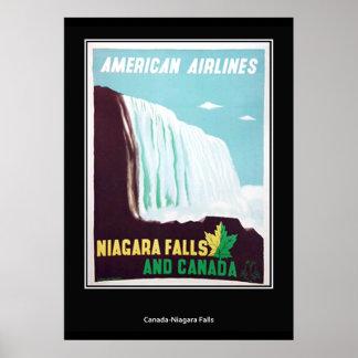Copie vintage de chutes du Niagara rétro