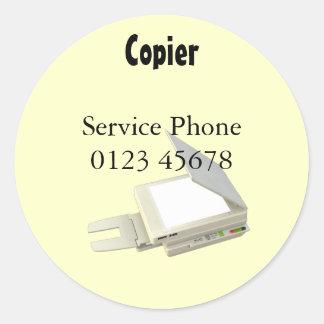 Copier service sticker