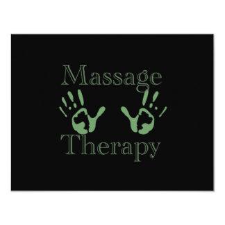 Copies de main de thérapie de massage carton d'invitation 10,79 cm x 13,97 cm