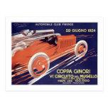 Coppa Ginori Auto Club Firenze Post Cards