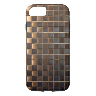 Copper Aluminum-Effect Tile iPhone 7 Case