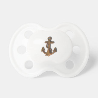 Copper Anchor on White Pacifier
