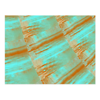 Copper and Aqua Curves Design Postcard